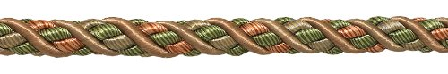27 Yard Package of Large Lt Bronze, Olive Green, Terracotta Baroque Collection 7/16