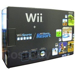 Nintendo Wii Console Black with Wii Sports and Wii Sports Resort from Nintendo