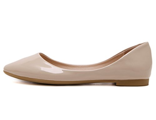 Solid Color Fortuning's Pointed Soft Pumps Casual JDS Fashion Off Cone Super soled white zq4S8zp