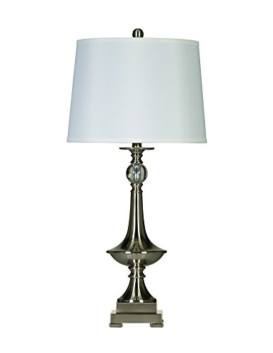 Ashley Furniture Signature Design - Newlyn Table Lamp - Traditional - Set of 2 - Brushed Nickel Finish by Signature Design by Ashley