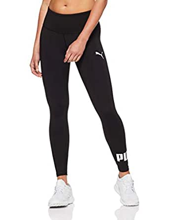 PUMA Women's Active Logo Leggings, Puma Black, XS