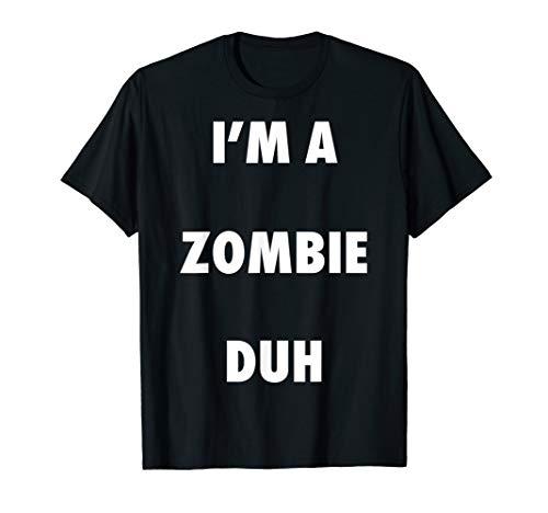 Easy Halloween Zombie Costume Shirt for Men Women Kids