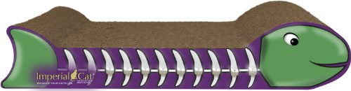 Imperial Cat Fish Bone Scratch and Shape, Purple and Green, My Pet Supplies