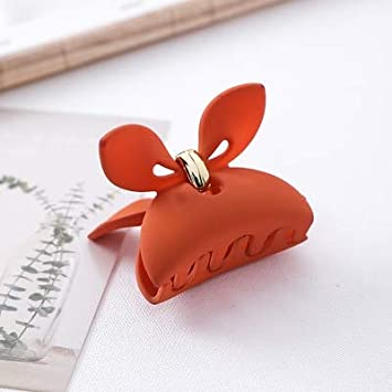 Woman Scrub Rabbit Ear Hair Claw Crab Girls Hair Accessories Solid  Hairpins