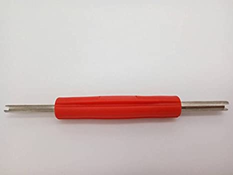 Autostereo Llave para núcleo de válvula de neumático, destornillador, herramienta de reparación, llave para reparación de aire acondicionado