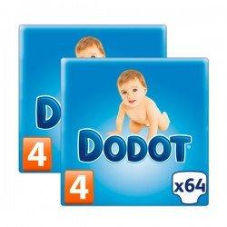 Pañales DODOT talla 4 128 unidades (2 paquetes de 64 unidades)