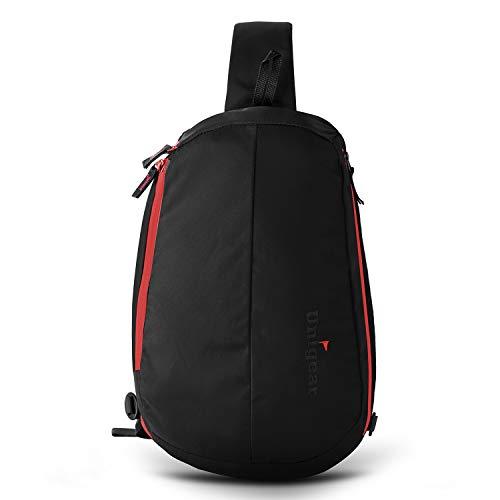 Unigear Sling Backpack Crossbody Shoulder Chest Bag for Women & Men, Multipurpose Anti -Theft Design for Travel, Commuting and Hiking (Black)