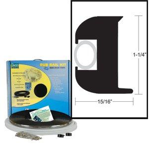 1 1/4''Black/Black Kit Flexrubrail50'
