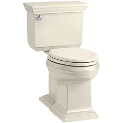KOHLER Memoirs Stately Comfort Height Elongated 1.28 GPF Toilet with Aqua Piston Flush Technology