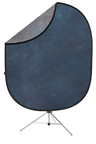 Savage Indigo Nights Collapsible Backdrop, 5' W x 6' H w/ 8' Aluminum Stand