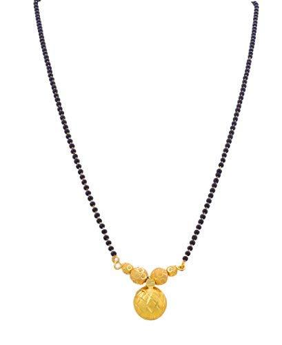 Bfc Best Maharashtrian Design Black Beads Gold Plated