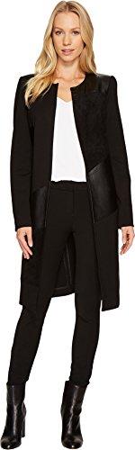 Long Black Ladies Leather Coat - 8