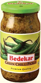 (Bedekar's Green Chili Pickle - 400g )