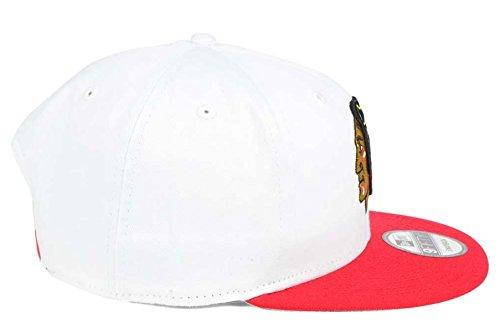 New Era Chicago Blackhawks 9Fifty Graphite Grand XL Logo Adjustable Snapback Hat NHL