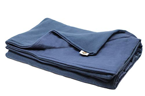 Good Flannel - Adult Large Weighted Blanket Sensory Goods -MADE IN AMERICA- 15lb Medium Pressure - Navy - Fleece/Flannel (42'' x 72'') Our Weighted Blankets provide Comfort and Relaxation