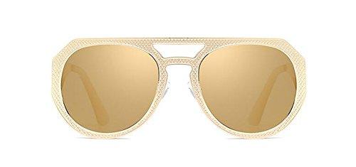 style vintage lunettes retro métallique polarisées rond soleil Lennon de Local en cercle Or du inspirées fUXxrX0wq