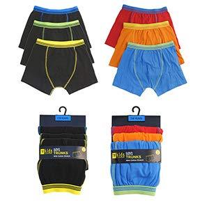 PANZYVARIETY WORLD 6 Pairs Boys Boxer Shorts 4-5yrs Cotton Rich Designer Trunk Boxers Underwear 2-13 Yrs