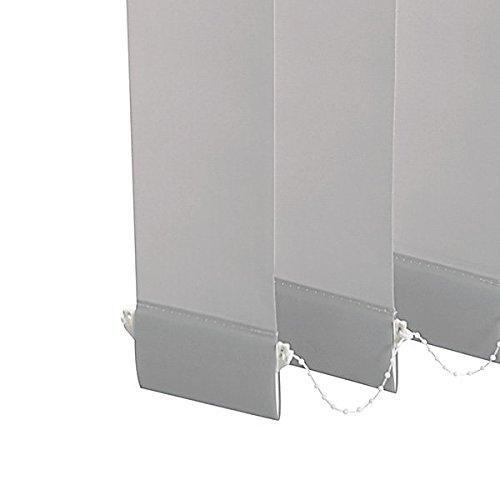 Ventanara Lamellenvorhang Weiß raumverdunkelnd 100% Komplettset Grünikaljalousie 89mm inklusive Montagematerial Montagematerial Montagematerial 300 x 250 cm B01KVFTG9Y Seitenzug- & Springrollos 011c20