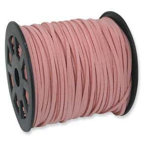 PINK Faux Leather Suede Necklace Cord 10 Feet Ultra Microfiber