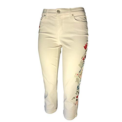 Pic of Women Floral Embroidery Jeans