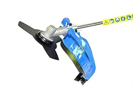 BRACOG HJBC5200 Desbrozadora Motor de Gasolina, 2 Tiempos, Barra Partida con Disco 3 Puntas, Cabezal de Hilo, Disco de multipuntos, arnés,