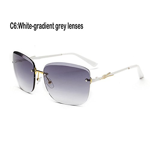 Gafas mujer Gafas UV400 reborde 927C3 927C6 Sunglasses de Lentes de sin cristal TL Fuzzy sol 5PwIqxYzz