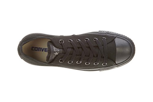 Converse Unisex Chuck Taylor All Star Ox Low Top Svart / Svart Joggesko - 11 Menn 13 Kvinner
