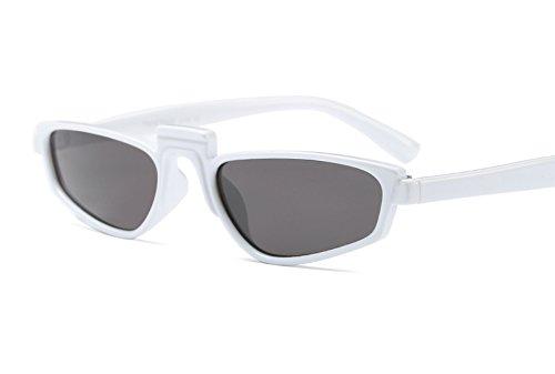 Freckles Mark Super Skinny Thin Narrow Plastic Geometric Small Sunglasses (White, - Glasses Rihanna