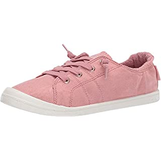 Roxy Women's Bayshore Slip on Shoe Sneaker, Pink Carnation 20, 7 M US