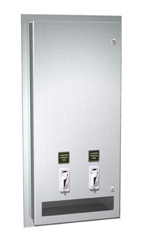 (ASI 0464-25 Napkin/Tampon Vendor - 25¢ operation - Recessed)