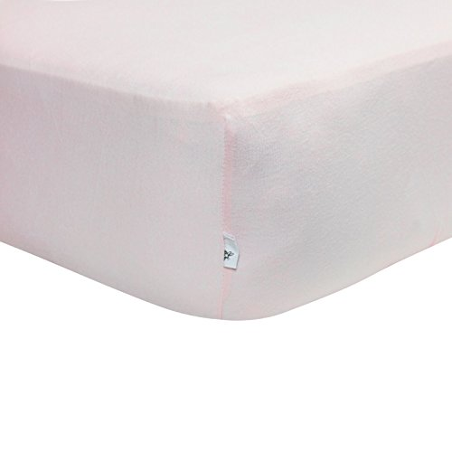 (Burt's Bees Baby - Fitted Crib Sheet, Solid Color, 100% Organic Cotton Crib Sheet for Standard Crib and Toddler Mattresses (Blossom))
