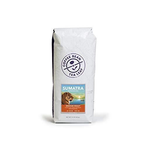 The Coffee Bean & Tea Leaf Medium Roast Whole Bean Coffee – Sumatra Mandheling – 1lb Bag