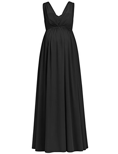 6 way maternity dress black - 4
