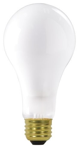 24 Pack Satco S3945 150 Watt 2670 Lumens A21 Frosted Incandescent Light Bulb