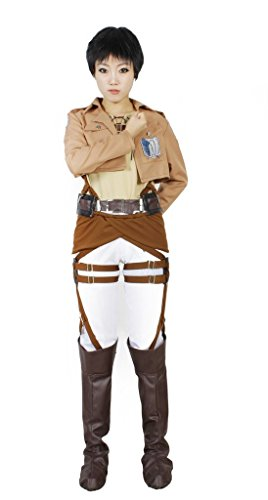 MILICA BOOKS Attack on Titan Survey Corps Eren Yeager Cosplay Costume-Size (Costumes Based On Books)