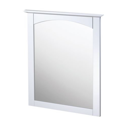 Foremost COWM2431 Columbia 25-Inch White Bathroom Mirror (Foremost Tools)