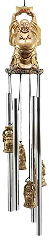 Jur_Global Feng Shui Lucky Buddha with Golden Nugget Wind Chime 23