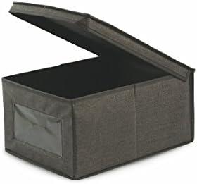 Galileo Casa 2412143 Caja, Tela (TNT), Gris, 20 x 40 x 30 cm ...