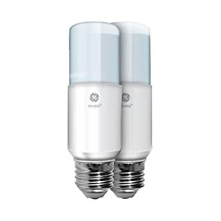 GE Lighting 36470 Reveal LED Bright Stik Light Bulb with Medium Base, 14-Watt, 2-Pack