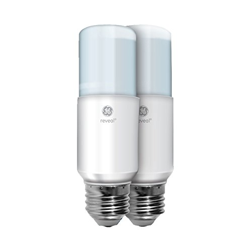 - GE Lighting 36457 Reveal LED Bright Stik Light Bulb with Medium Base, 10-Watt, 2-Pack