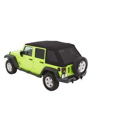 Jeep Fabric Top Wrangler - Bestop 54923-35 Black Diamond Trektop NX Glide Convertible Soft Top for 07-17 Wrangler Unlimited 4-Door