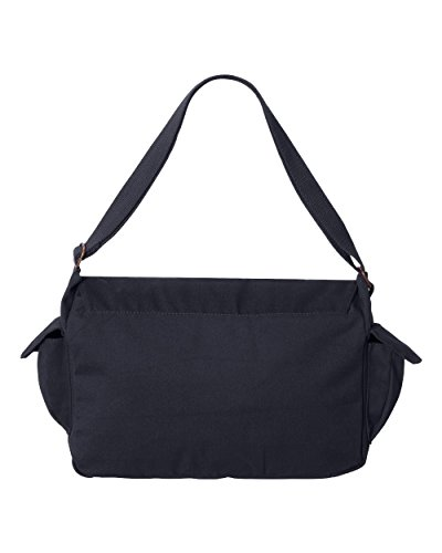 Tenacitee Born in 1985 - Aged Like a Fine Wine Navy Brushed Canvas Messenger Bag by Tenacitee (Image #2)