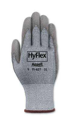 Ansell Size 7 HyFlex Light Duty Cut Resistant Gray Polyurethane Palm Coated Work Glove With Gray DSM Dyneema And Lycra Liner And Knit Wrist (Coated Gloves Palm Dyneema)
