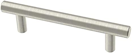 Brainerd Bar 3 3 4 In Center To Center Stainless Steel Cylindrical Bar Cabinet Pull