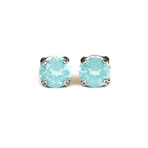 2c58dcfbe0471 Swarovski Elements Crystal Stud Earring in Green Pacific Opal