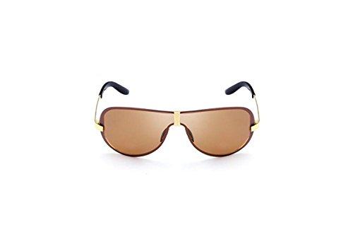 polarized Shing RFVBNM tendencia brown personalidad Gafas marco hombres sol sol Fashion Gafas de gafas gris sin de sol de Classic FFp1Ox