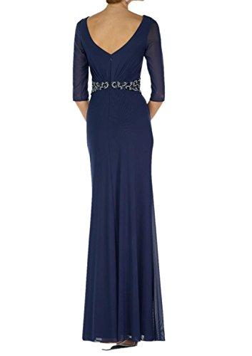 Ballkleider Blau Rosa Langarm Etuikleider Chiffon 3 Damen 4 Navy Charmant Abendkleider Brautmutterkleider zEHwUqZz
