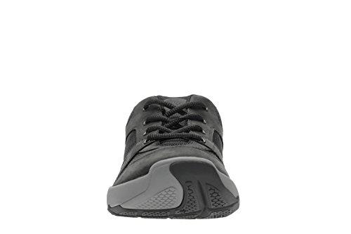 Clarks Wave Launch - Zapatos de cordones de Lona para hombre negro negro