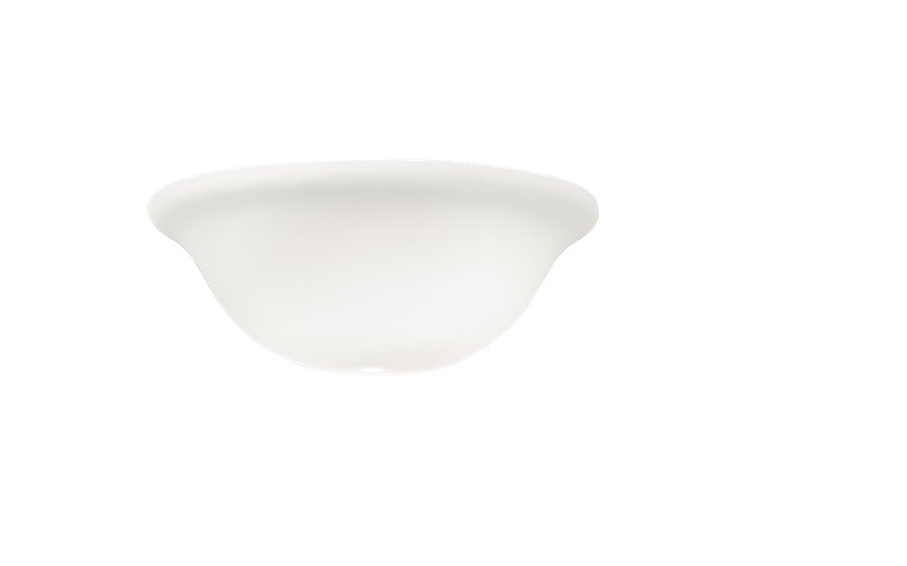 Kichler 340013, White Satin Etched Cased Opal Glass Bowl for Ceiling Fan, Globe Light Cover Only