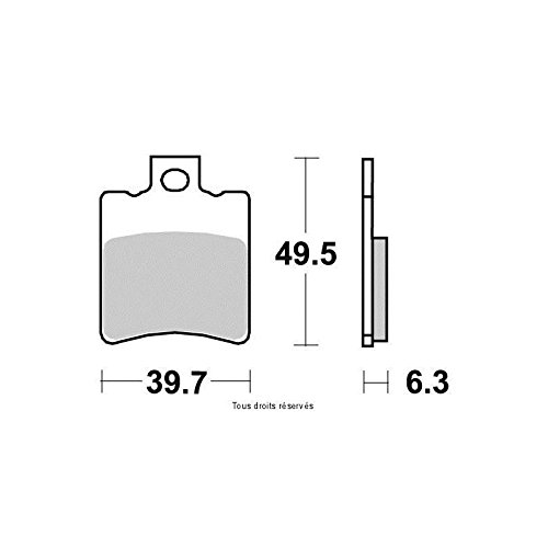 Plaquettes de frein J.JUAN 2011-2013 Kyoto PEUGEOT LUDIX 50 4T PRO Avant